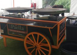 Your Paella, Paella cart on site