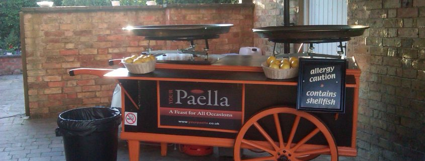 Paella cart on site