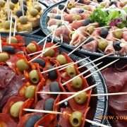 Spanish mixed platter selection