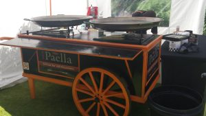 Paella Cart perfect for weddings, corporate and private party's.