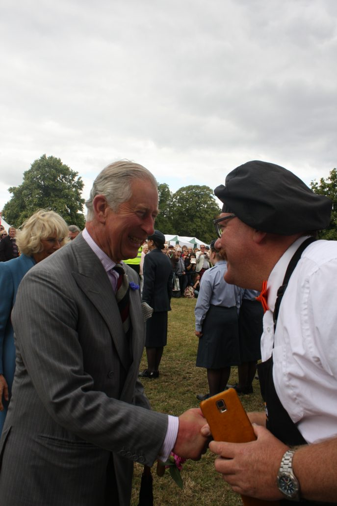HRH The Prince of Wales meeting Gary the owner of Your Paella
