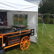 Paella cart set and ready to cook