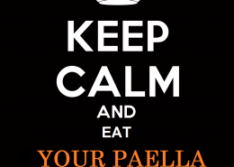 Keep calm eat Paella