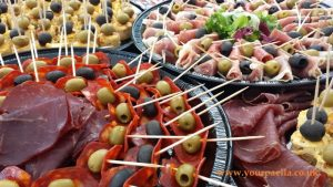 Spanish style canapes for weddings