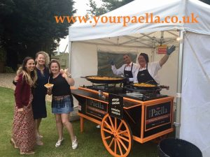 The Your Paella guys cooking delicious Paella and Tapas