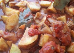 Potatas Bravas Spicy Potato a Spanish favorite.