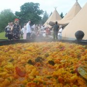 Vegetarian Paella for a Wedding