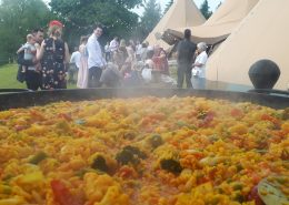Paella Catering Derbyshire. Vegetarian Paella for a Vegetarian Wedding.