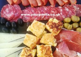 Spanish Style Canapes. Your Paella
